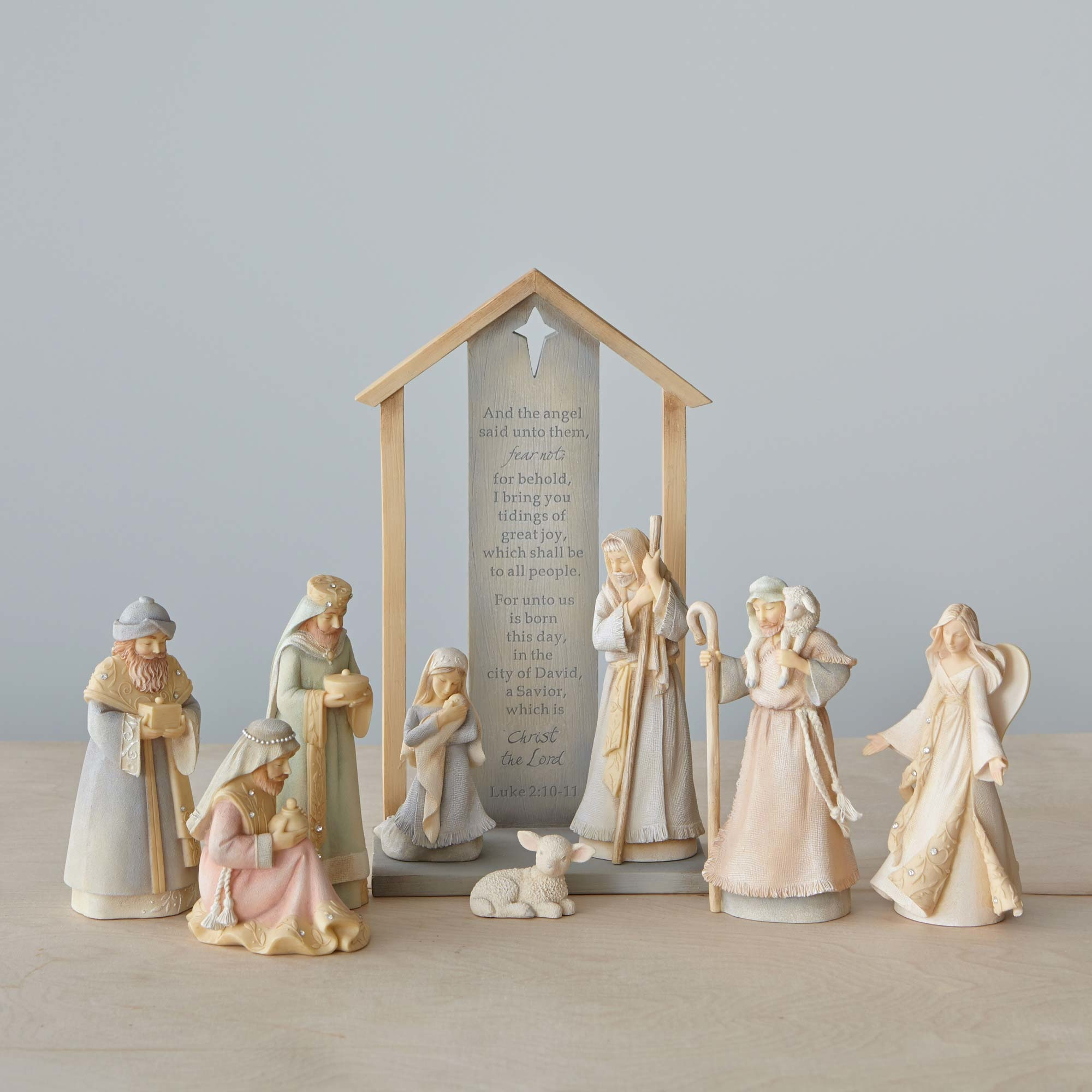 9 Piece Foundations Nativity Set