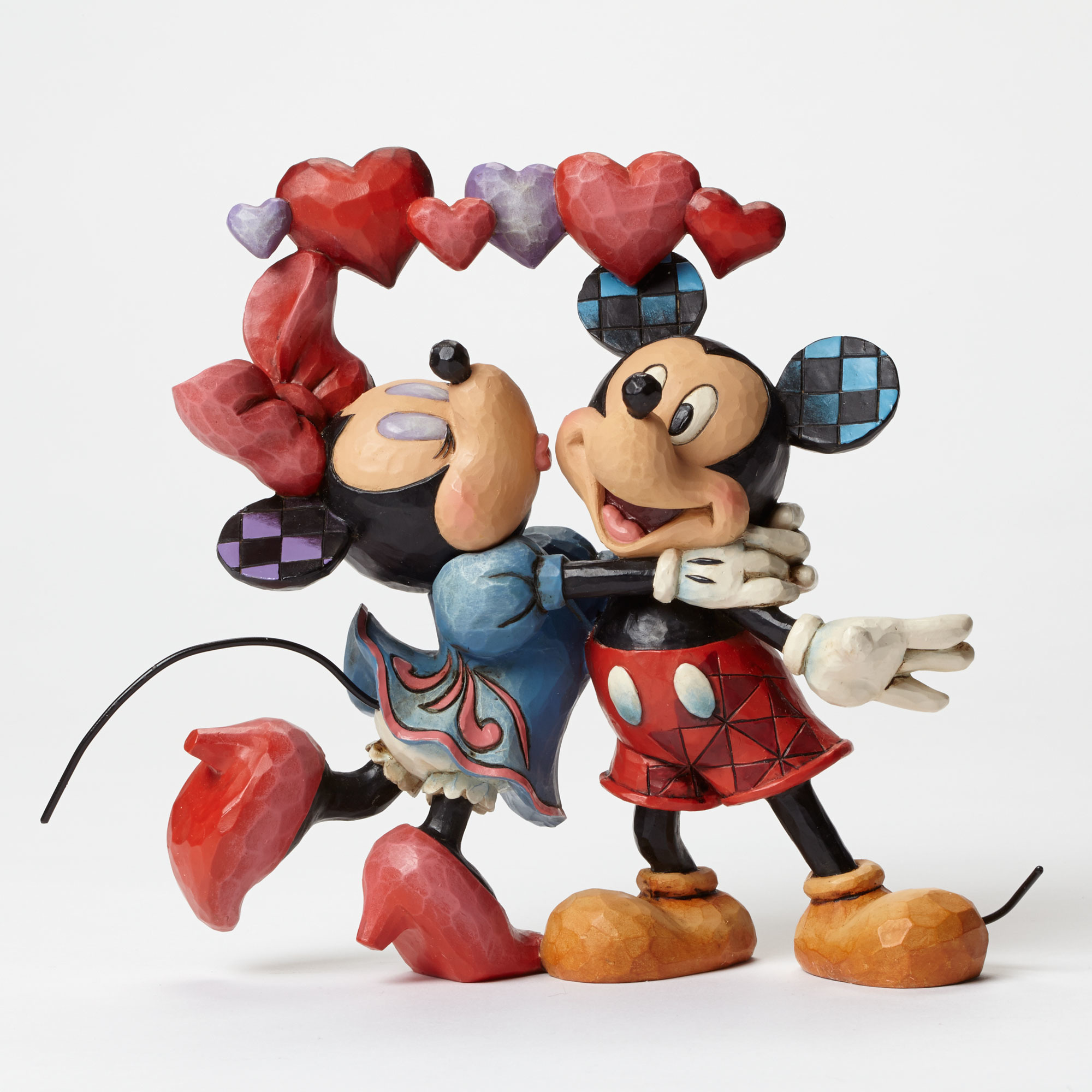 Mickey and minnie with hearts - Minni et mickey ...