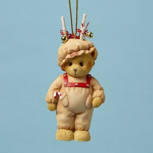 Bear Dressed as Reindeer Ornament Dated 2015