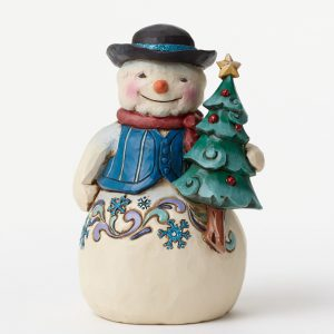 Snowman with Tree