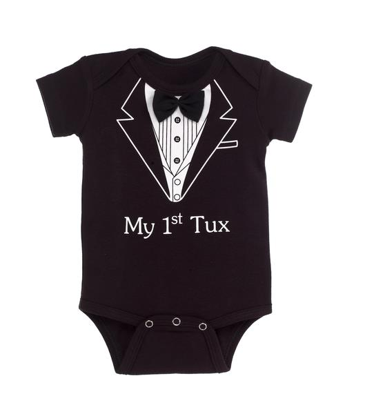 Boys Diaper Shirt - My First Tux 38065