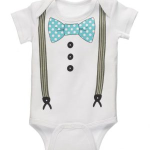 Boy's Diaper Shirt With Suspenders 30950