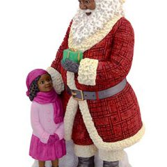 Ebony Santa with Girl 17072