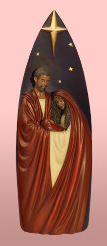 Ebony Tall Holy Family 19037