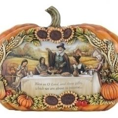 "6"" Slim Pumpkin Thanksgiving Table Scene"
