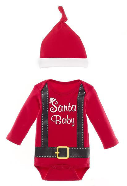 Santa Baby Diaper Shirt and Cap 21098