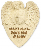 Arrive Alive Don't Text And Drive Angel Visor Clip 15752