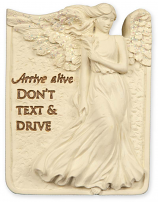 Arrive Alive Don't Text And Drive Angel Visor Clip 15753
