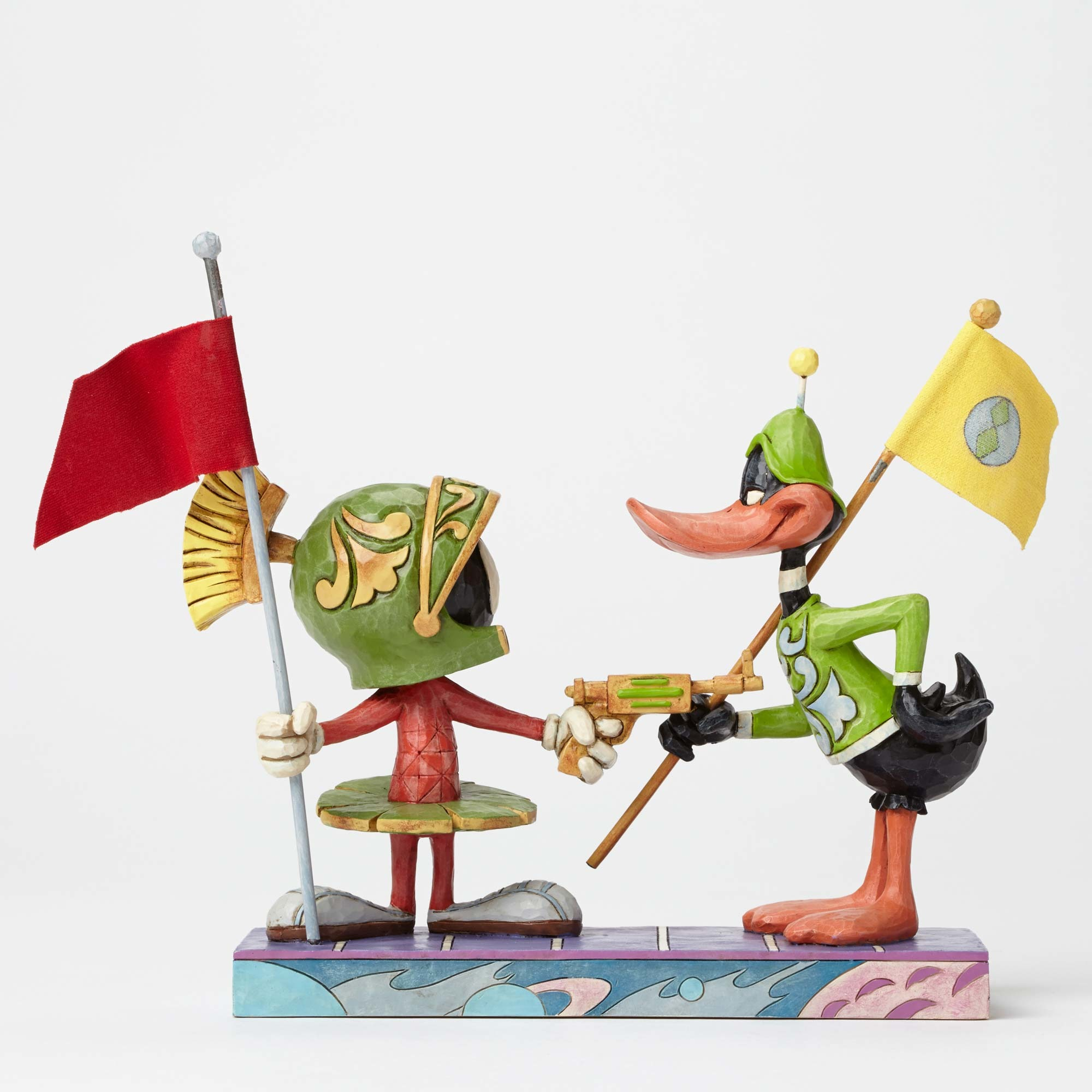 Jim Shore Heartwood Creek Looney Tunes Marvin Martian and Duck Dodgers Enesco 4049388
