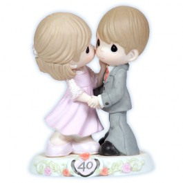 Precious Moments Porcelain 40th Anniversary Figurine 113008