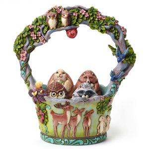 Jim Shore Heartwood Creek Woodlands Easter Basket Set of 5 Enesco 4048850