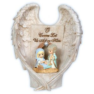 Precious Moments LED Angel Wings Nativity Scene 121420