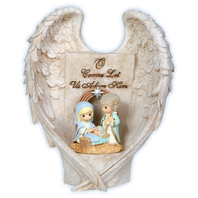 Precious Moments LED Angel Wings Nativity  landmcollectiblescom
