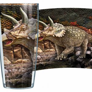 Triceratops Dinosaur Tumbler Made In The USA with Life Time Guarantee